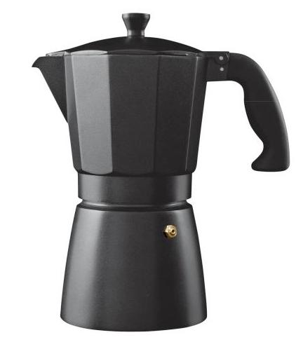 6 cup (240ml) black body aluminium espresso coffee maker £19