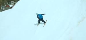 How to ski backwards